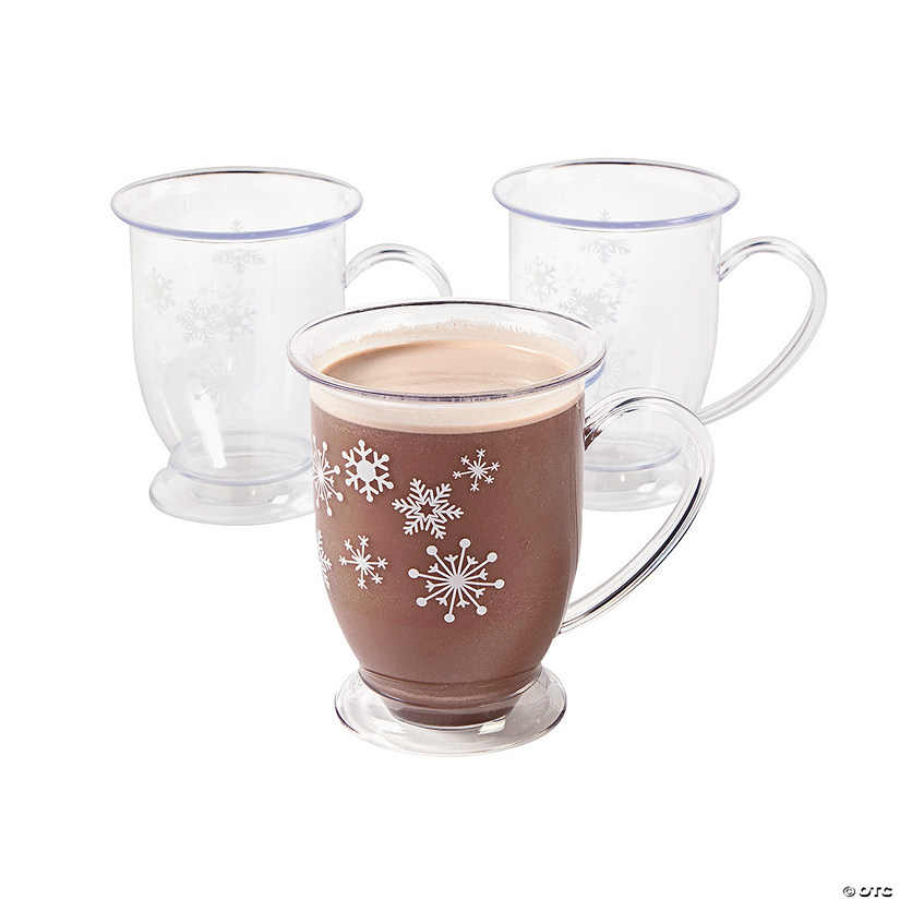 Winter Snowflake Plastic Mugs
