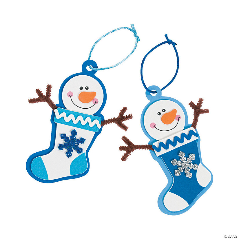 Winter Snowman Stocking Christmas Ornament Craft Kit Audio Thumbnail
