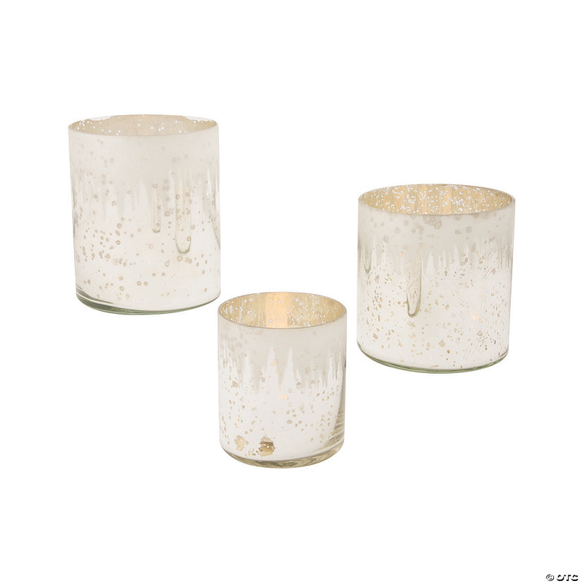 Winter Wonderland Mercury Candle Holders