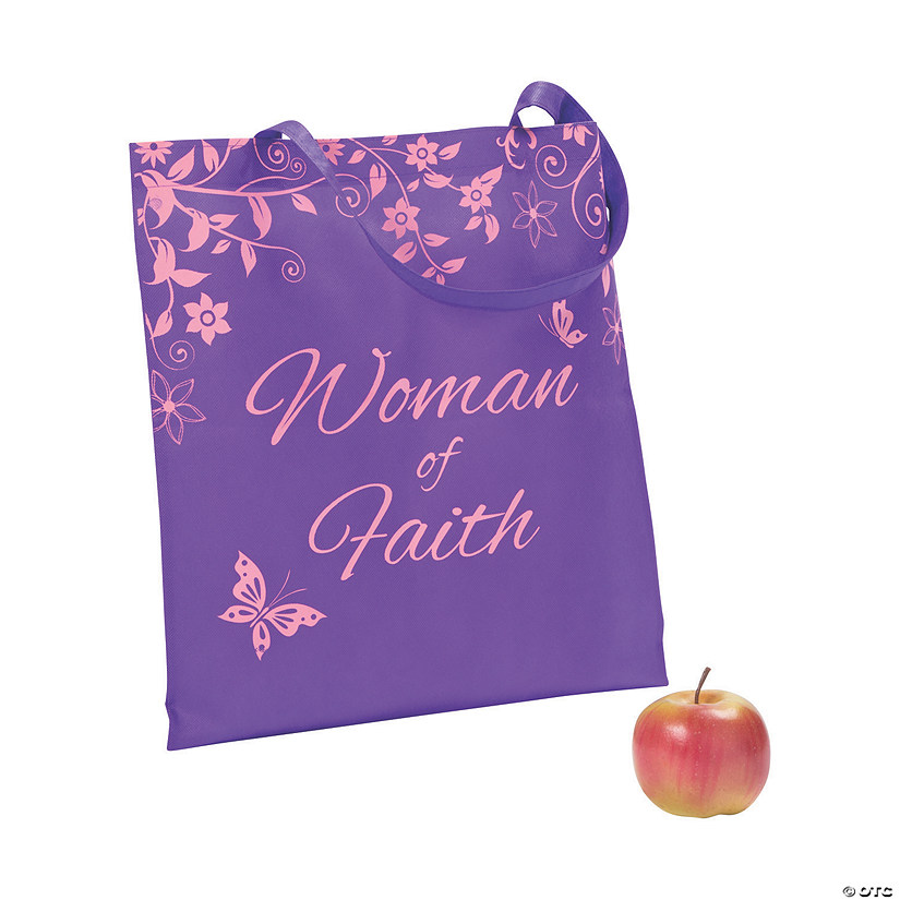 Woman of Faith Large Tote Bags Image Thumbnail