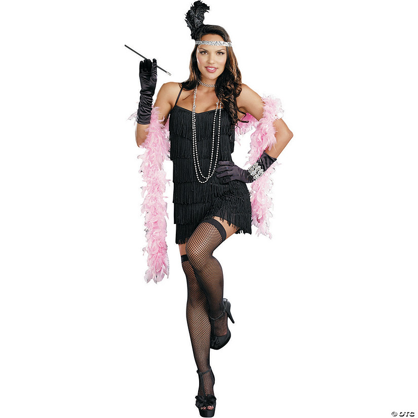 Women's Basic Flapper Dress Costume Audio Thumbnail