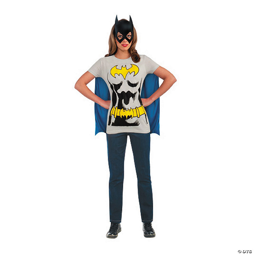 Women's Batgirl™ T-Shirt Costume with Cape Audio Thumbnail