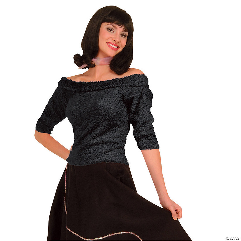 Women's Black Sock Hop Top Costume Audio Thumbnail