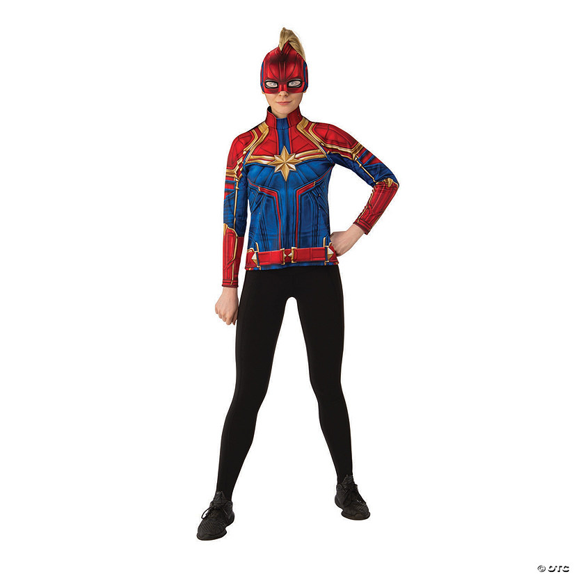 Women's Captain Marvel Hero Suit Costume Top Audio Thumbnail
