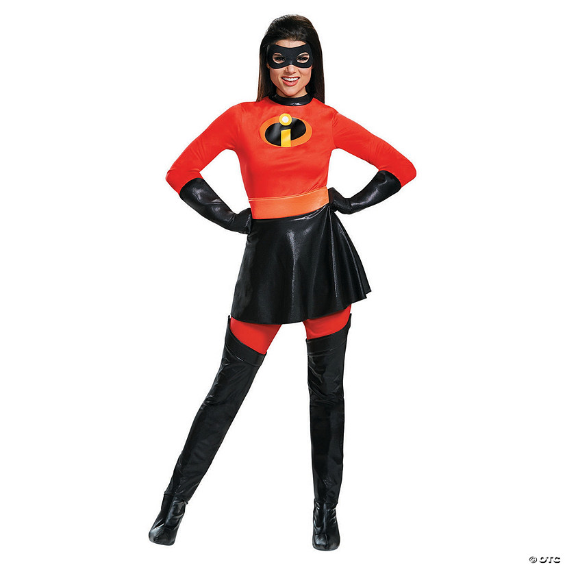 Women's Deluxe The Incredibles™ Mrs. Incredible Costume with Skirt Audio Thumbnail