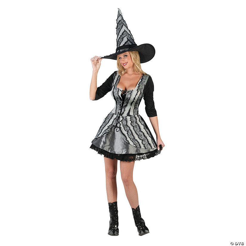 Women's Goth Rose Witch Costume