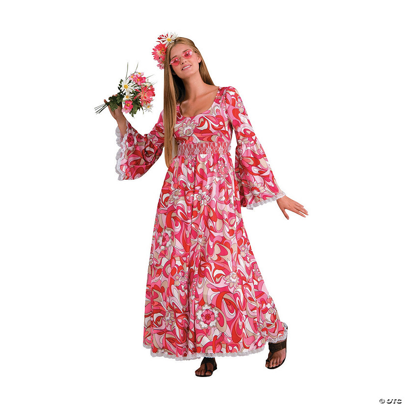Women's Hippie Flower Child Costume Audio Thumbnail
