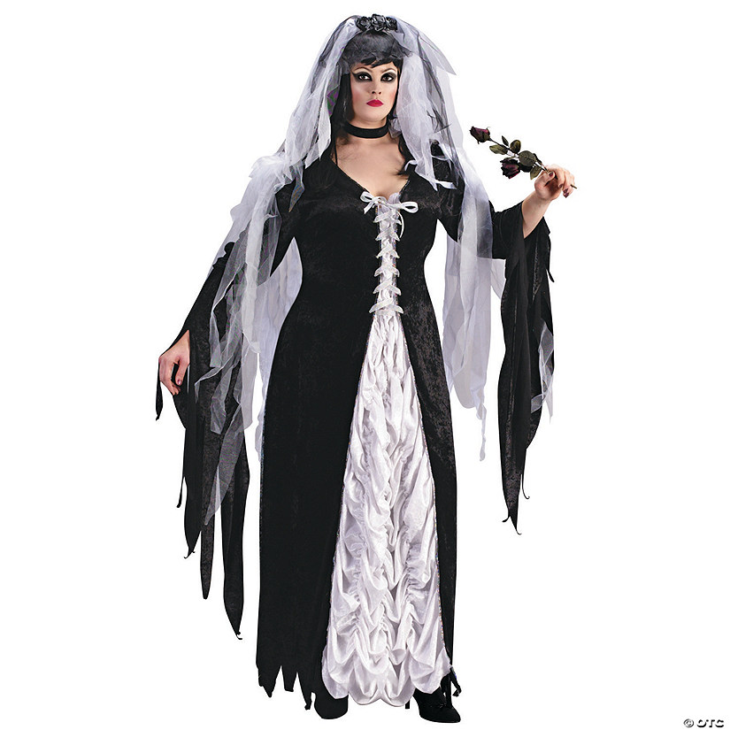 Women's Plus Size Bride of Darkness Costume