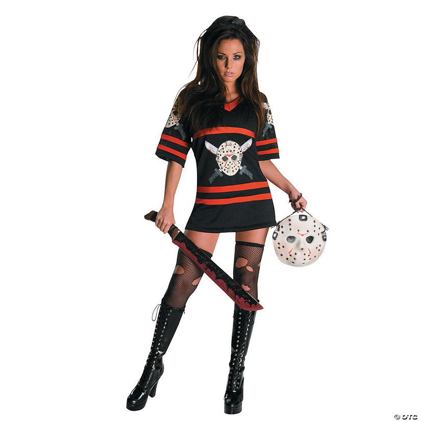 Women's Plus Size Miss Sexy Friday the 13th Voorhees Costume