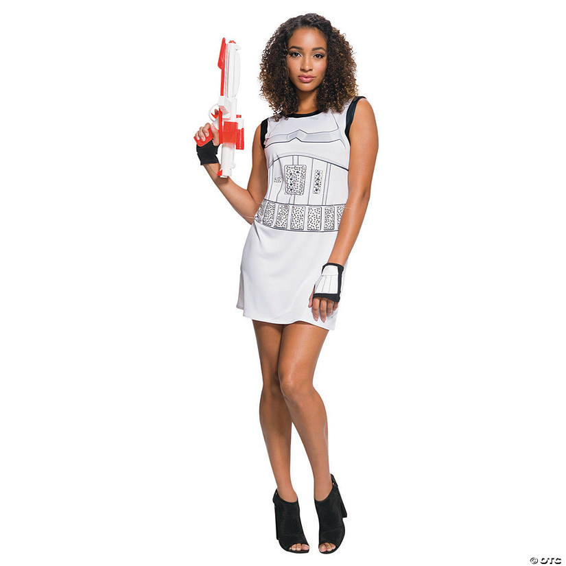Women's Rhinestone Tank Dress Stormtrooper Costume