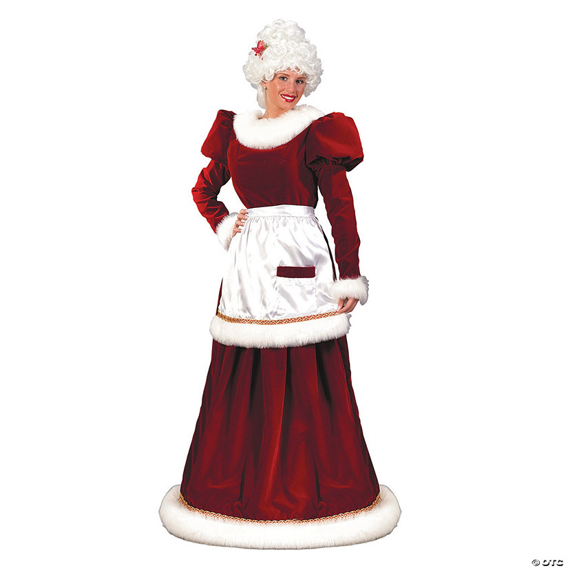 Women's Velvet Mrs. Santa Claus Dress Costume Image Thumbnail