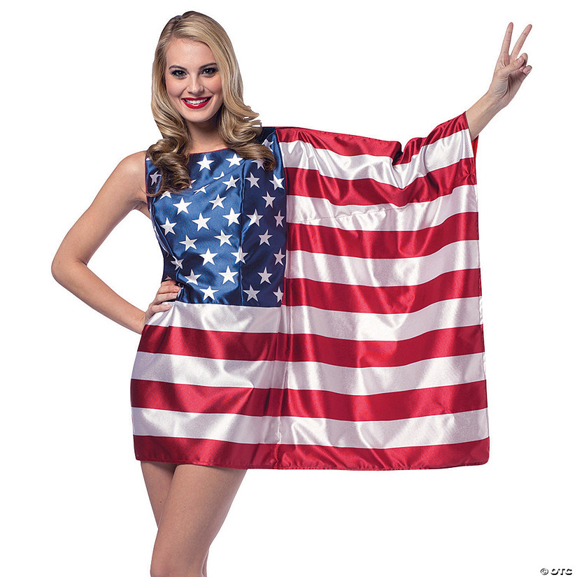 Women's American Flag Dress - Standard