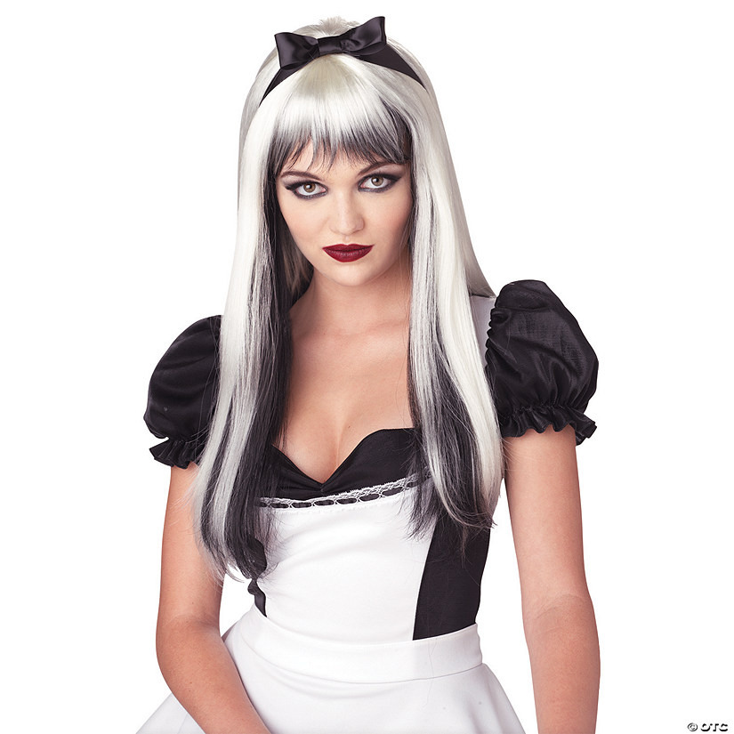 womens-black-and-white-enchanted-tresses-wig~13731000 0a1259019f
