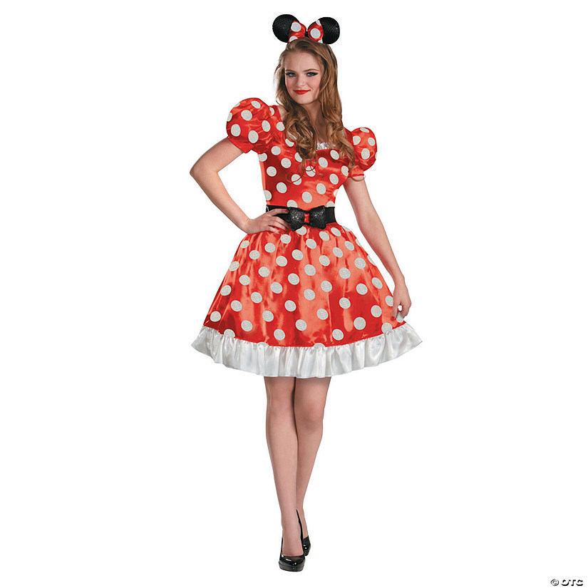 Women's Classic Red Minnie Mouse™ Costume Audio Thumbnail