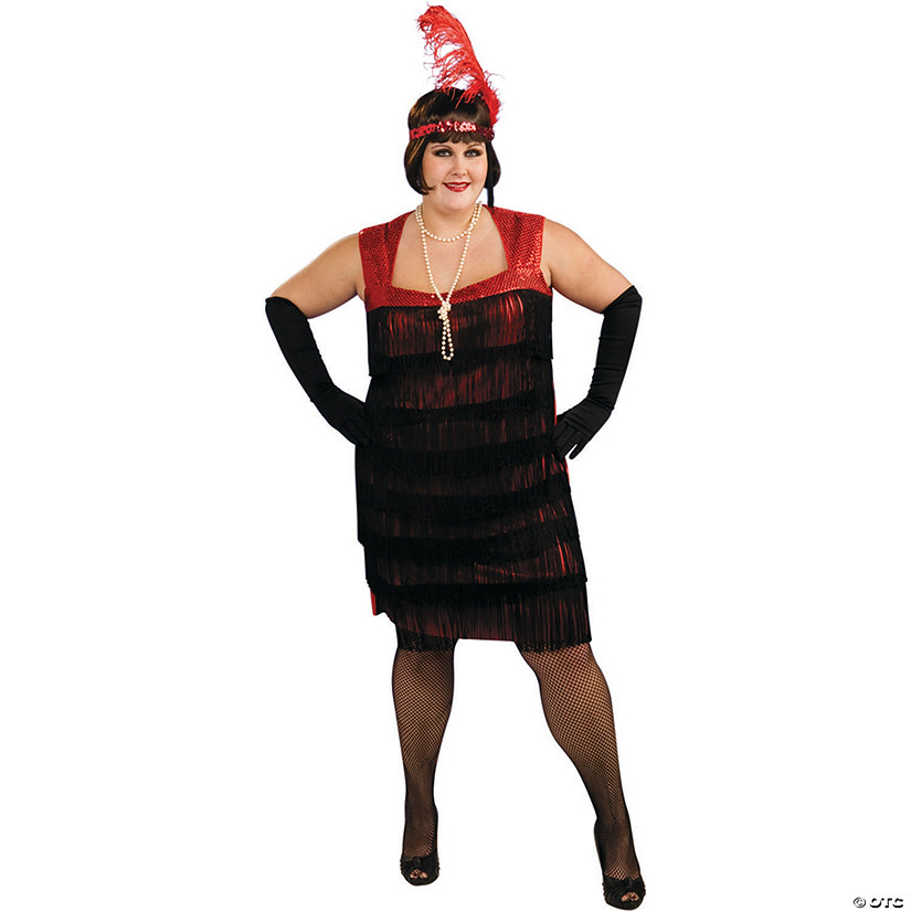 Women's Plus Size Flapper Costume