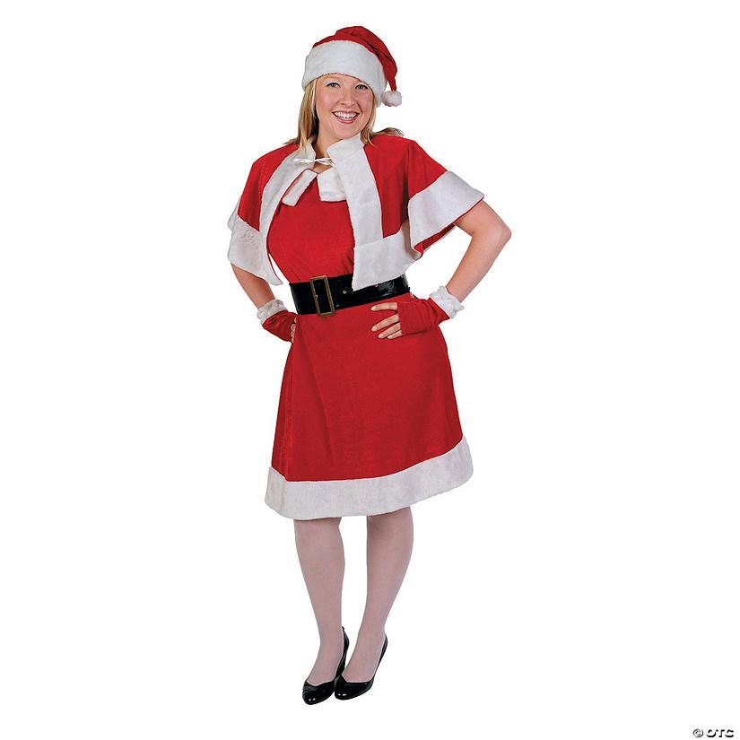 Womens Plus Size Holiday Miss Santa Claus Costume Xxl
