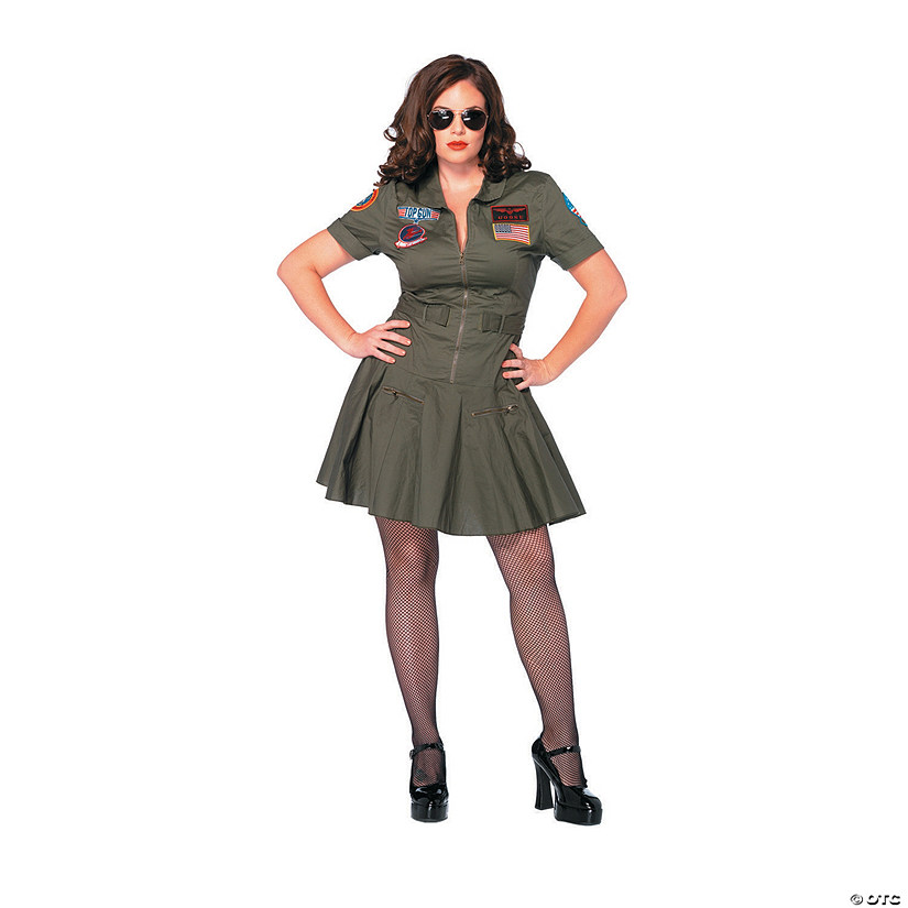 Women's Plus-Size Top Gun™ Dress Costume - XL/XXL Audio Thumbnail