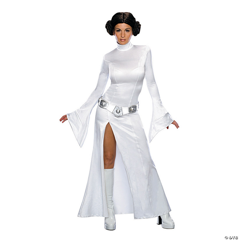 Women's White Dress Princess Leia Costume
