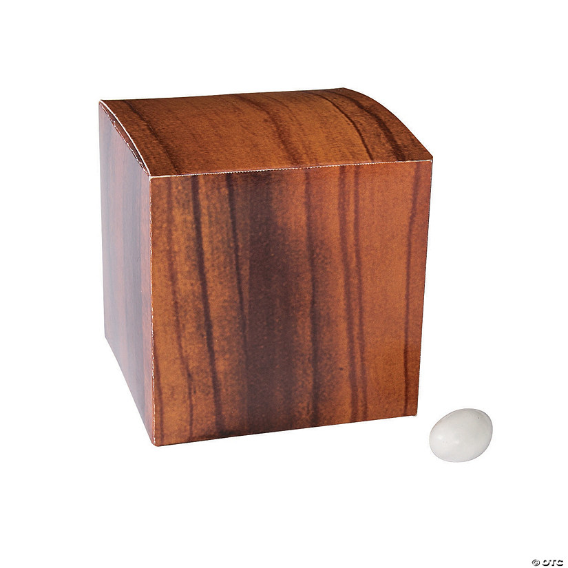 Wood Grain Print Favor Boxes Audio Thumbnail