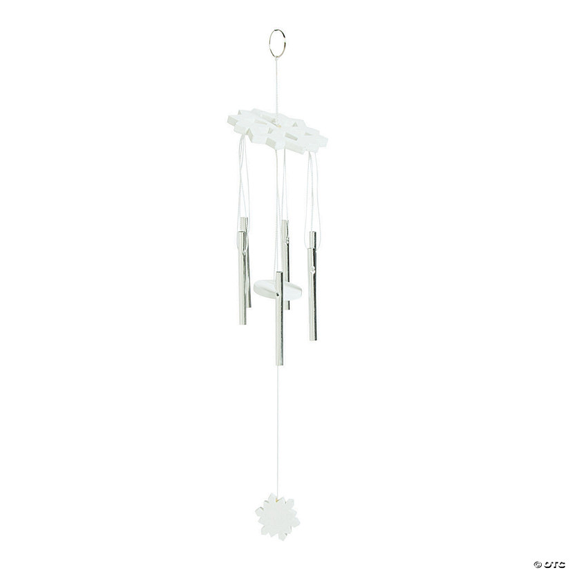 Wood Snowflake Wind Chime Ornaments Audio Thumbnail
