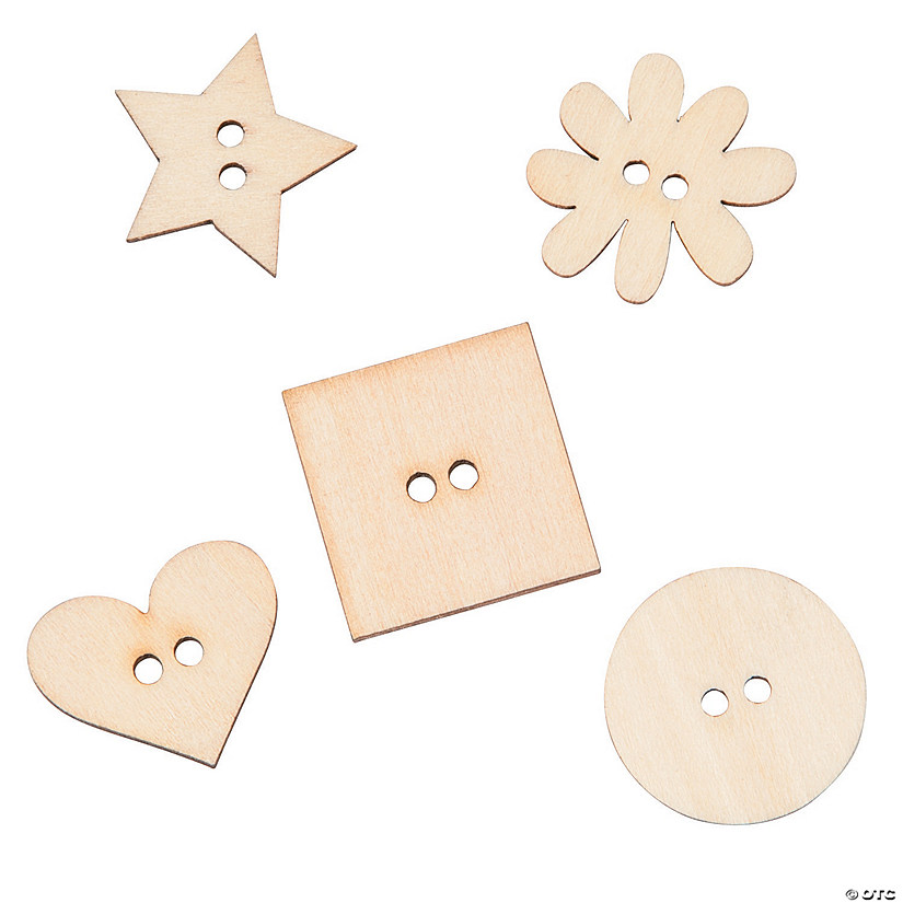 Wood Veneer Shape Buttons Discontinued