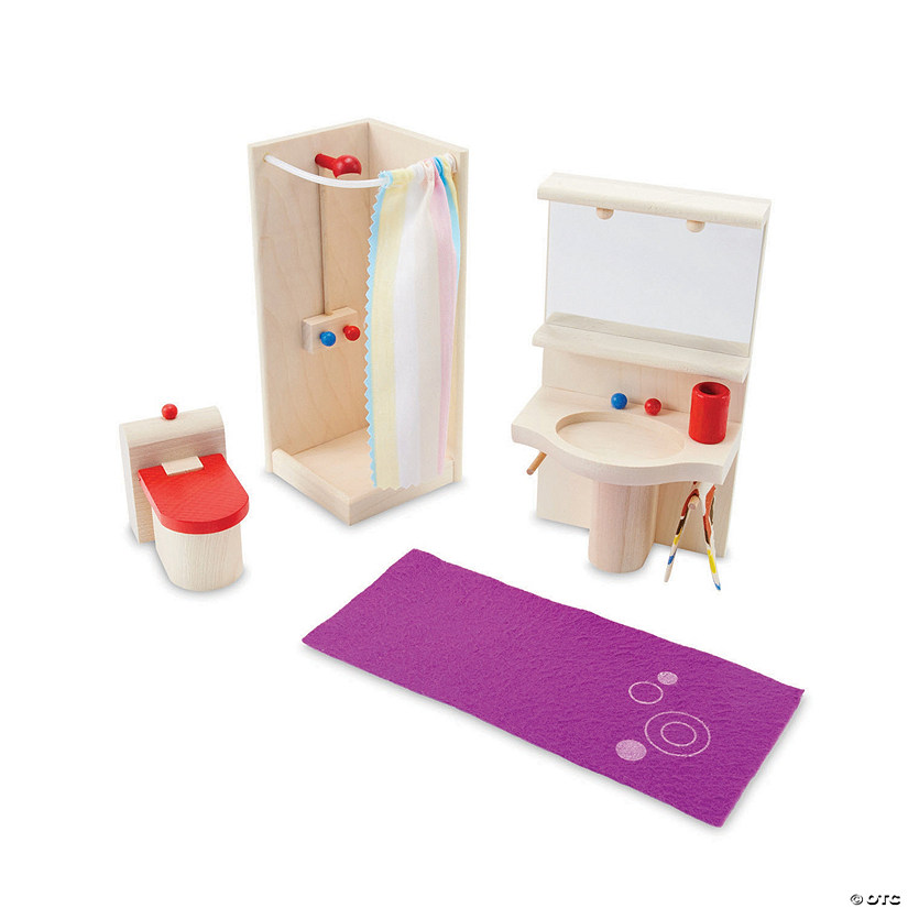 Wooden Dollhouse Bathroom Furniture Set Audio Thumbnail