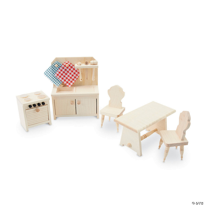 Wooden Dollhouse Kitchen Furniture Set Audio Thumbnail