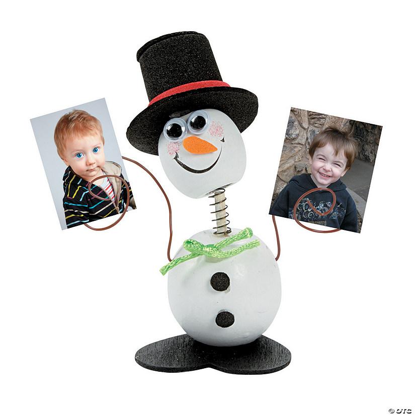 12 Foam Smile Face Snowman Photo Frame Magnet Craft Kits OTC