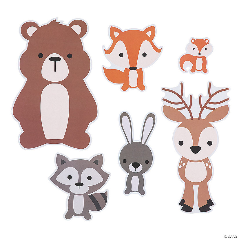 Woodland Party Animal Cutouts