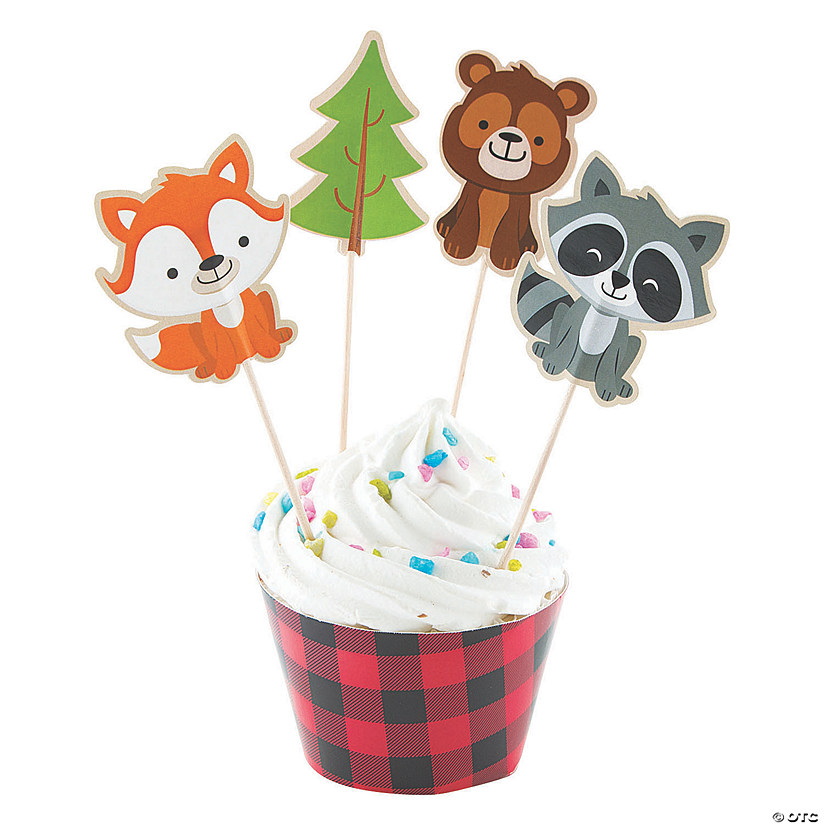 Woodland Party Cupcake Wrappers & Picks