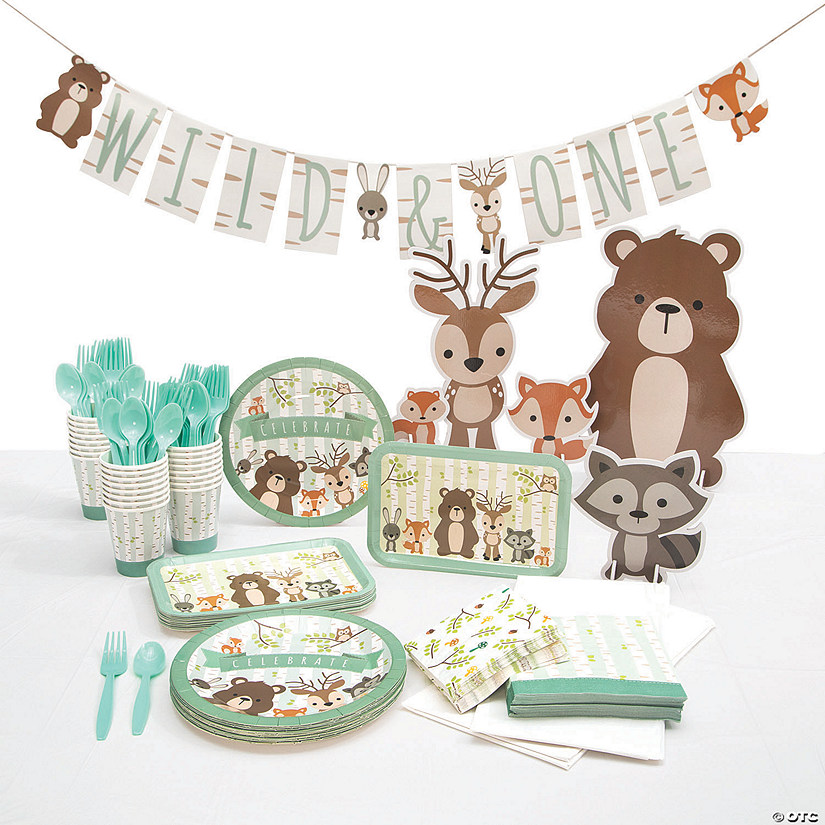 Woodland Tableware Kit for 24 Guests Image Thumbnail