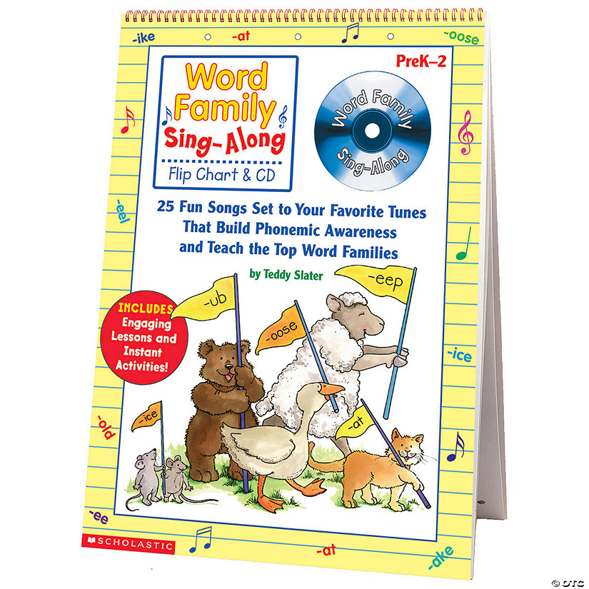 Word Family Sing-Along Flip Chart and CD, Grades K-2 Audio Thumbnail