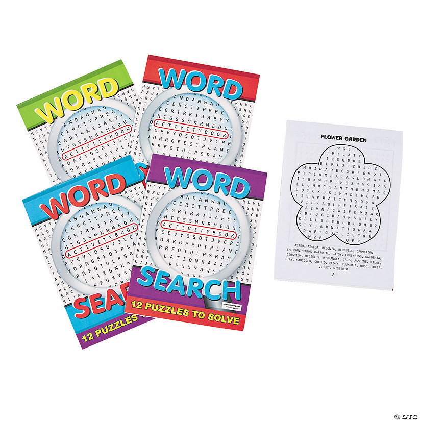 Word Search Activity Books Image Thumbnail