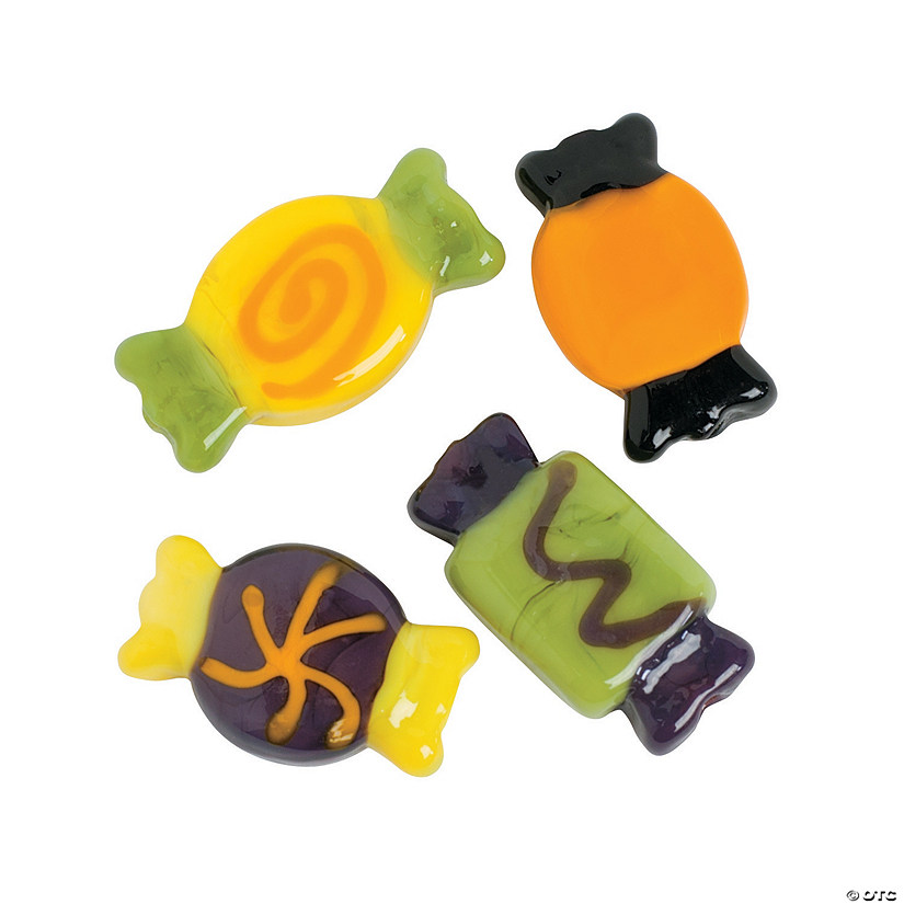 Wrapped Candy Lampwork Beads