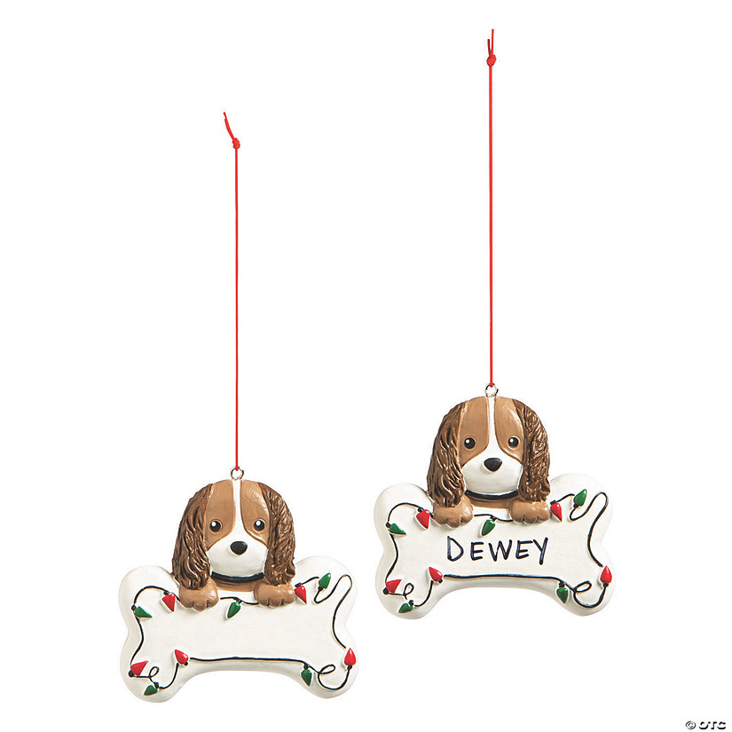 Write-A-Name Puppy Ornaments Image Thumbnail
