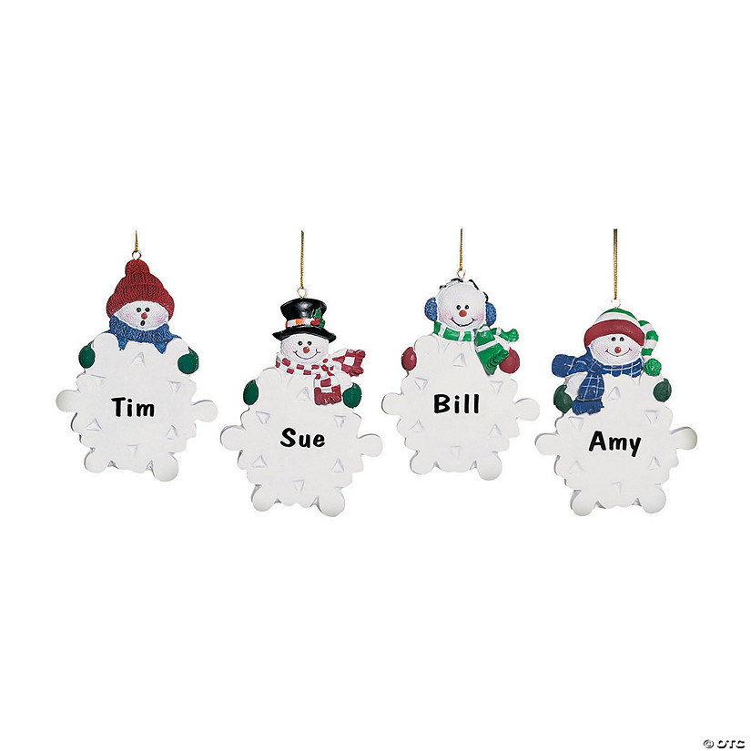 Write-A-Name Snowman Ornaments Audio Thumbnail