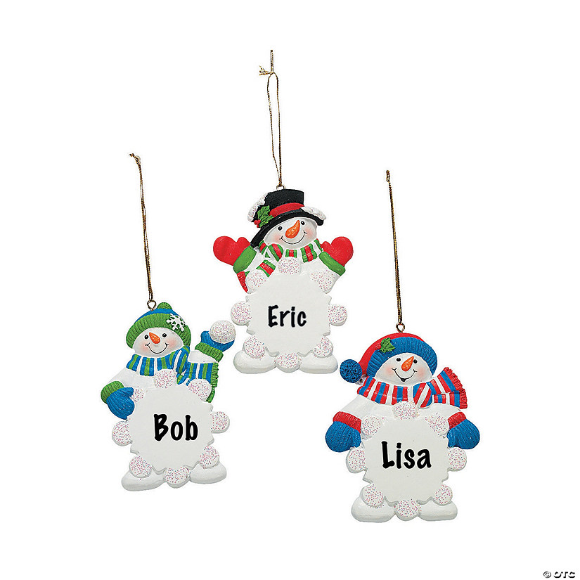 Write-A-Name Snowman Snowflake Ornaments Audio Thumbnail