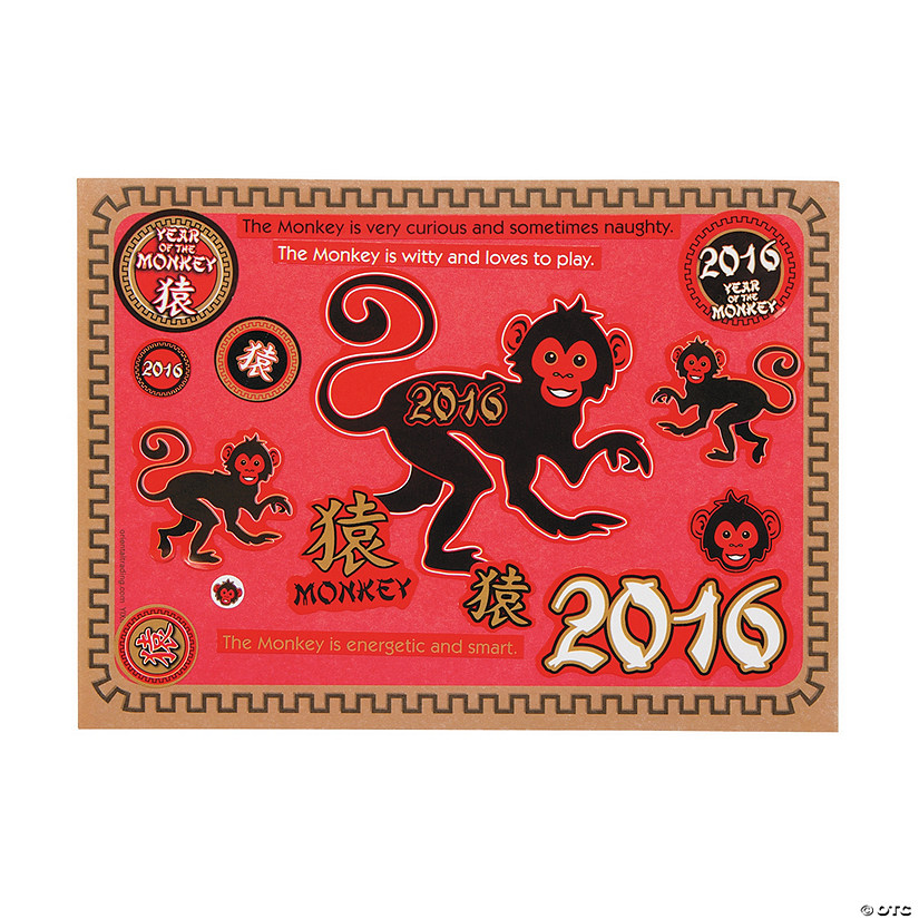 Year of The Monkey Mini Sticker Scenes Audio Thumbnail