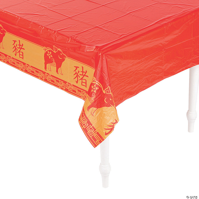 Year of the Pig Plastic Tablecloth Audio Thumbnail