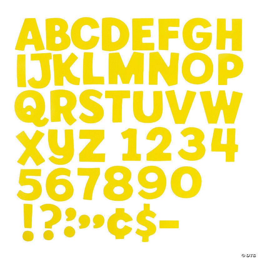 Yellow Bulletin Board Letters