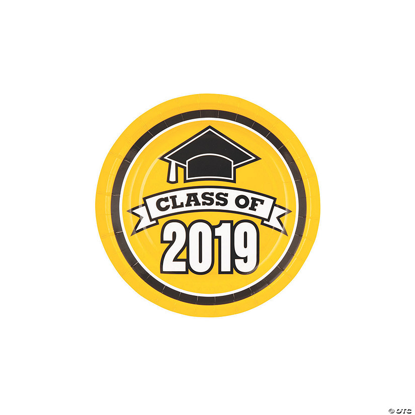 Yellow Class of 2019 Paper Dessert Plates Audio Thumbnail