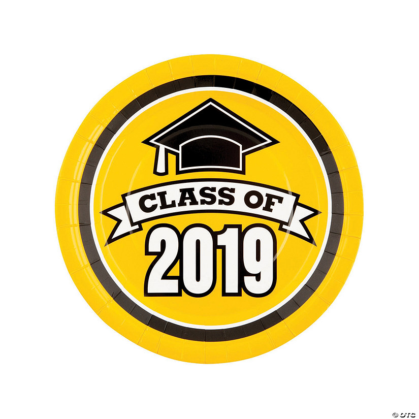 Yellow Class of 2019 Paper Dinner Plates Audio Thumbnail