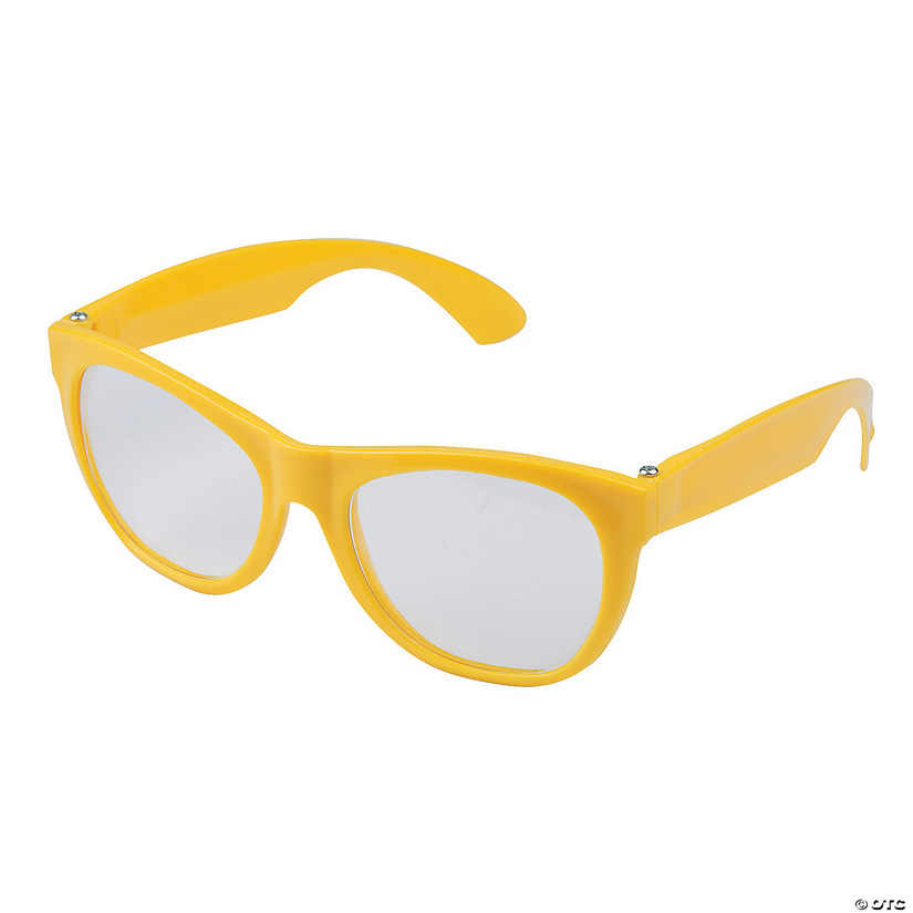 Yellow Clear Lens Glasses - 12 Pc. Image Thumbnail