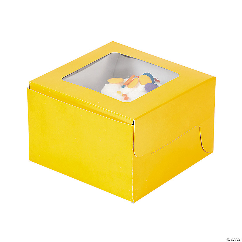 Yellow Cupcake Boxes