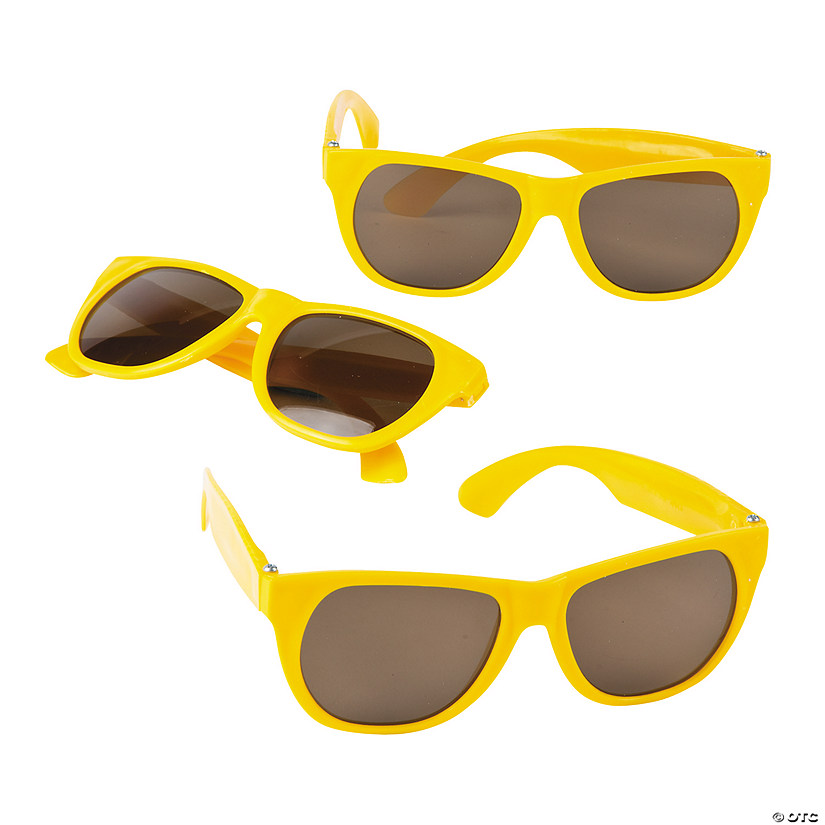 Yellow Nomad Sunglasses - 12 Pc. Image Thumbnail