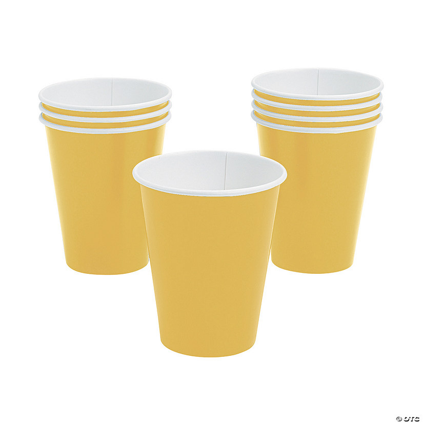 Yellow Paper Cups - 24 Ct. Audio Thumbnail
