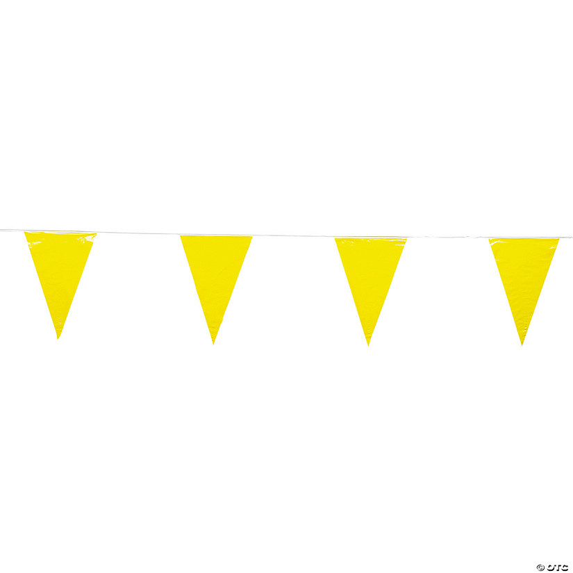 Yellow Plastic Pennant Banner Audio Thumbnail
