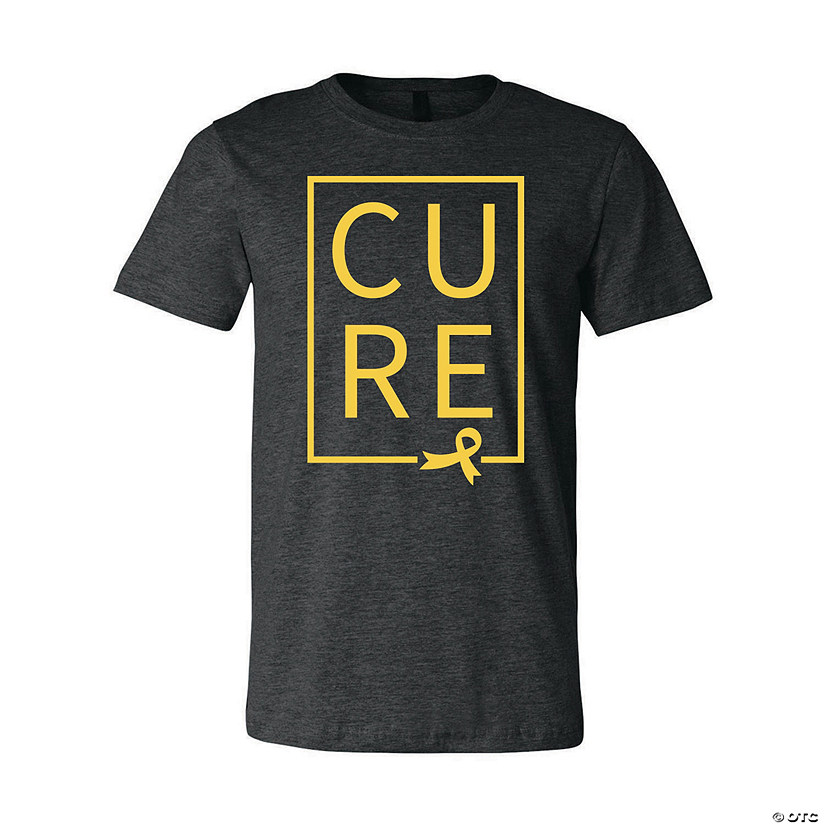 Yellow Ribbon Cure Adult's T-Shirt Image Thumbnail