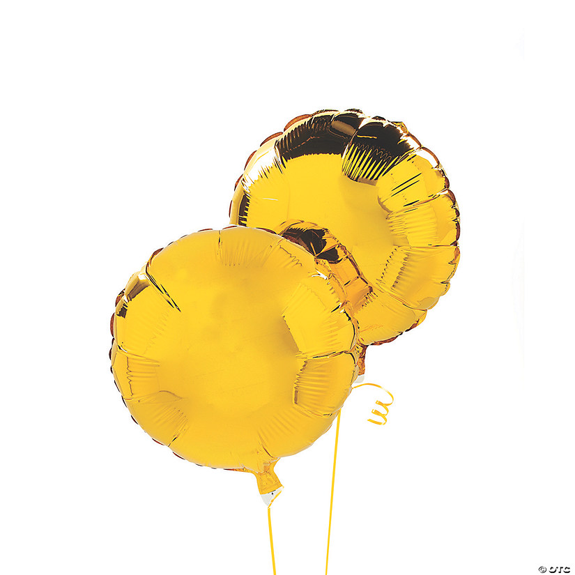 Yellow Round Mylar Balloons Audio Thumbnail