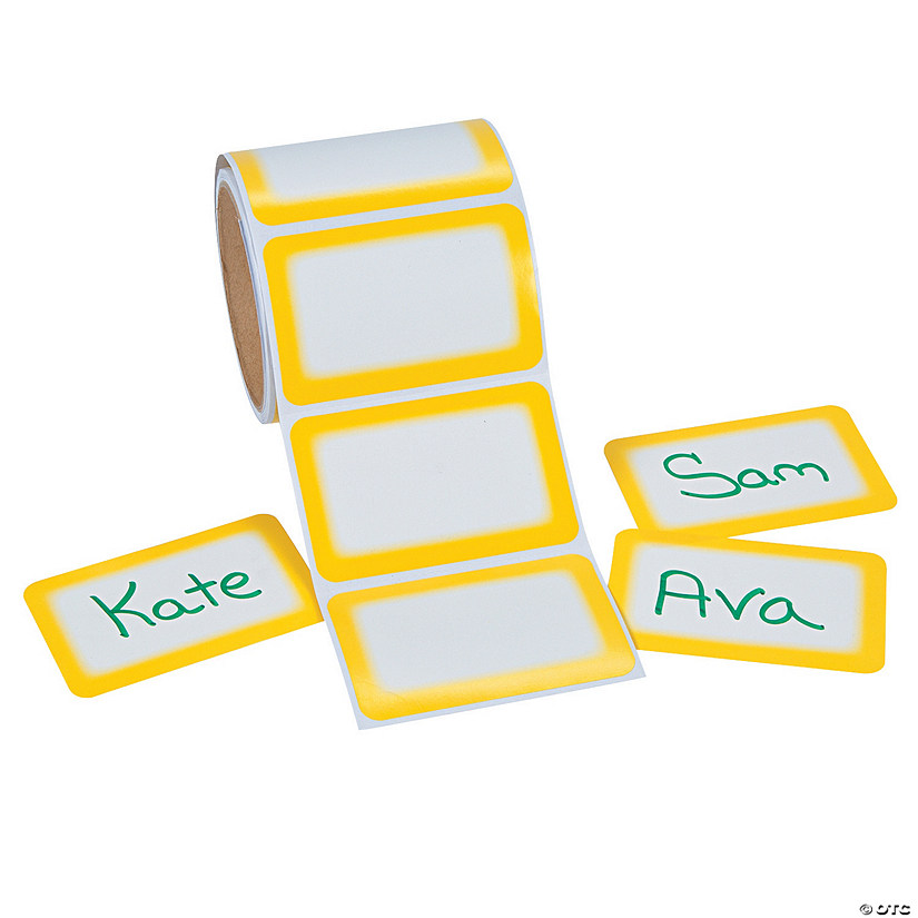Yellow Self-Adhesive Name Tags/Labels